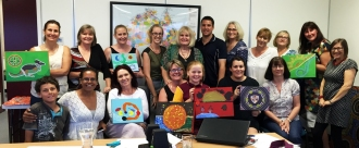 Althea Projects Team with Artworks